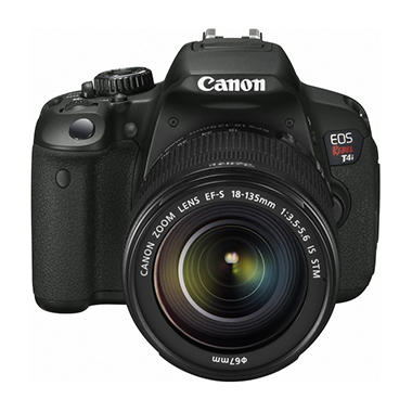 Canon T4i 18MP DSLR Camera with 18-135mm IS Lens and Full HD (1080p) Video