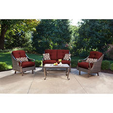 Ventura 4-Piece Seating Set, Multiple Color Choices