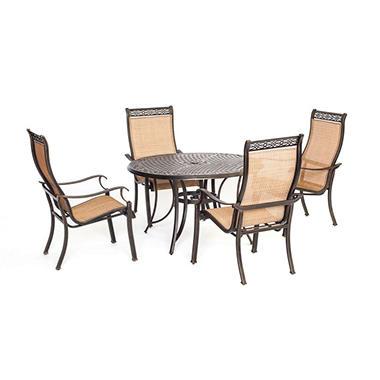 Manor 5 Piece Outdoor Dining Set Sam 39 S Club
