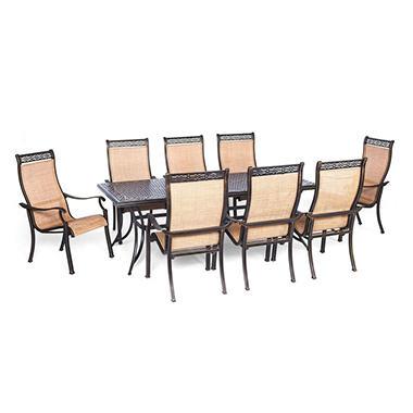 Manor 9 Piece Outdoor Dining Set Sam 39 S Club