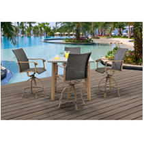 Click here for Hermosa 5-Piece High-Dining Set prices