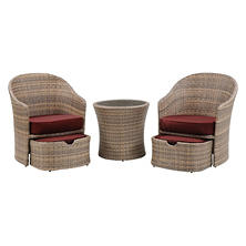 Seneca 5-Piece Chat Set, Crimson Red