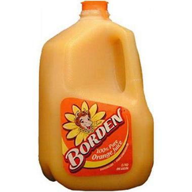 Borden Orange Juice - 1 gallon