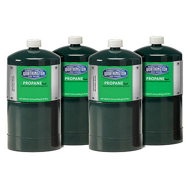 Worthington Cylinder Propane Fuel - 16.4 oz. tanks - 4 pk.