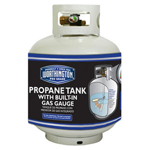 Refillable Propane Gas Cylinder with Gauge - 20 lb. capacity