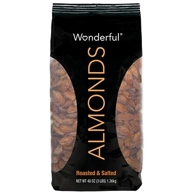 Wonderful Roasted & Salted Almonds - 48 oz.