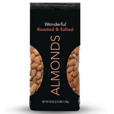 ALMONDS WONDERFUL 2.5 LBS