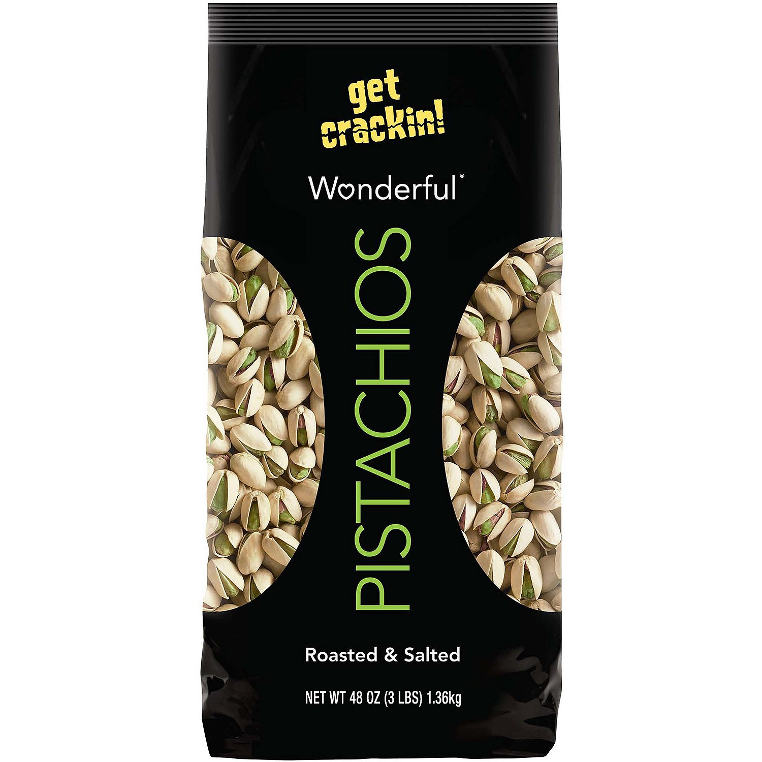 wonderful pistachios roasted amp salted in shell 48 oz ebay