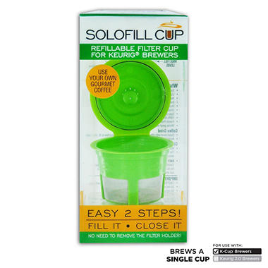 Solo-fill Reusable & Refillable Single Serve Cup for Keurig�  Brewers