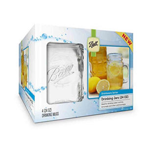 Ball Mason Jar Drinking Mugs - Assorted Pack Sizes