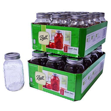 Ball Regular Mouth Jars - 32 oz, 24 Jars