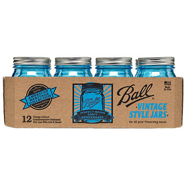 Ball® Vintage Blue Pint Jars - 12 pk.