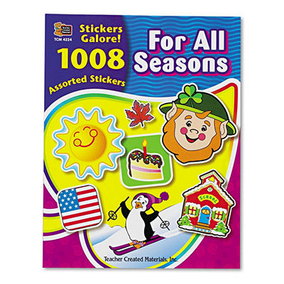 Teacher Created Resources - Sticker Book, For All Seasons, 1 - 008/Pack