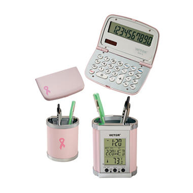 Pink Desk Set - Breast Cancer Awareness