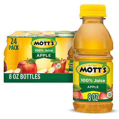 Mott's 100% Apple Juice - 8 oz. - 24 pk.