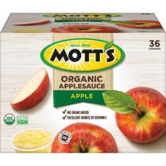 Mott's Organic Applesauce Cups (3.9 oz., 36 pk.)