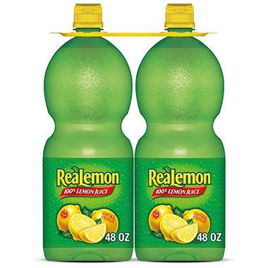 ReaLemon Juice - 48 oz. Squeeze Bottles - 2 pk.