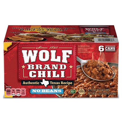 Wolf® Brand Chili - 15 oz. cans - 6 ct.