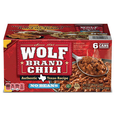 Wolf� Brand Chili - 15 oz. cans - 6 ct.