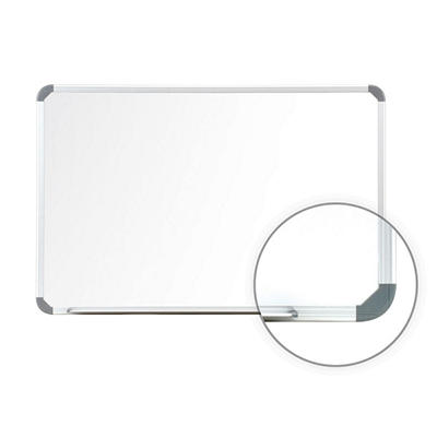"Cintra 18"" x 24"" Magnetic Whiteboard, White with Satin Aluminum Frame"