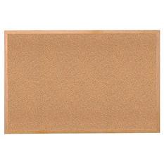 "Ghent Wood Frame Bulletin Board, 18"" x 24"", Natural Cork"