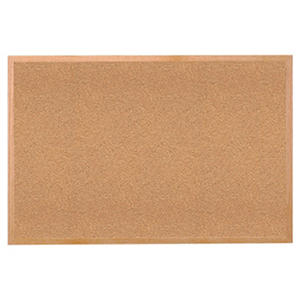 "Ghent Wood Frame Bulletin Board, 24"" x 36"", Natural Cork"