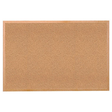 Ghent - Natural Cork Bulletin Board - Wood Framed