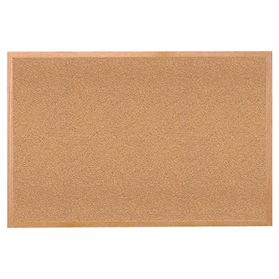Wood Frame Cork Bulletin Board - 3' x 4'