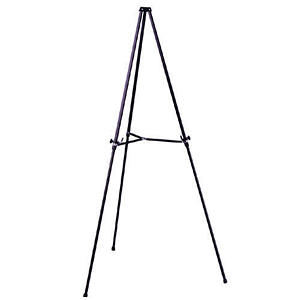 Ghent Telescoping Easel, Black Aluminum 3 Leg
