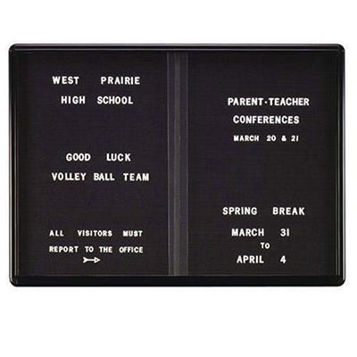 Ovationt - Sliding 2-Door Enclosed Letterboard