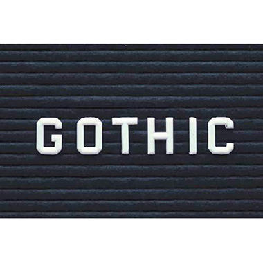 Ghent - Changeable Insert Letters - Gothic Font Style