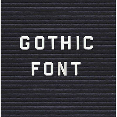 "Changeable Letters - 3/4"" Gothic Font"