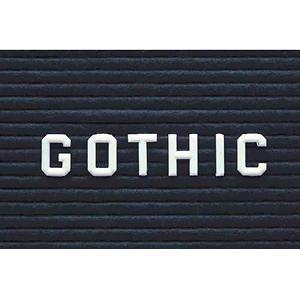 "Ghent - 1"" Plastic Insert Letters"