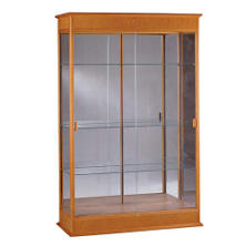 Varsity Display Case w/ Mirror Back - Autumn Oak