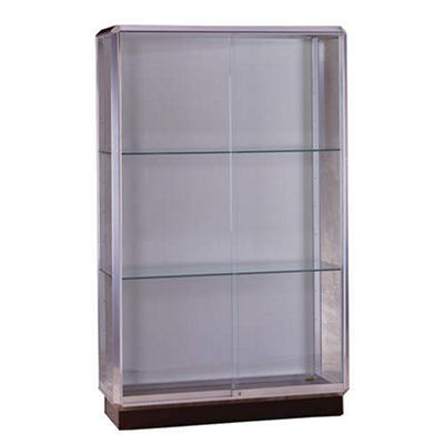 Prominence  Floor Display Case - Chrome