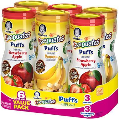 Gerber Graduates Finger Foods Variety - 1.48 oz. - 6 pk.