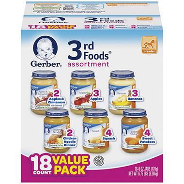 Gerber 3rd Foods Assortment Pack - 18 pk. - 6 oz.