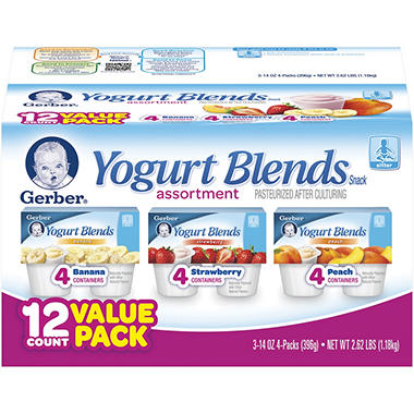 Gerber Infant Yogurt - 3.5 oz. -12 pk.