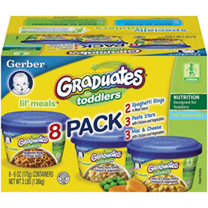 Gerber Graduates for Toddlers Lil' Meals Club Pack  - 8 pk. - 6 oz.