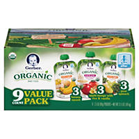 Gerber Organic 2nd Foods Variety Pack (3.5 oz., 9 ct.)