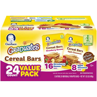 Gerber Graduates Cereal Bars - 24 ct.
