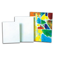Sax Genuine Canvas Panel Classroom Pack, 8 X 10 Inches, 35-Ply, White, Pack of 36