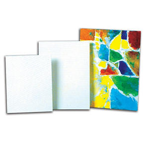 Sax Genuine Canvas Panel Classroom Pack, 16 X 20 Inches, 35-Ply, White, Pack of 36