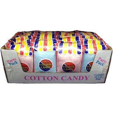 Flossie S Cotton Candy 1 Oz Bag 24 Ct Sam S Club