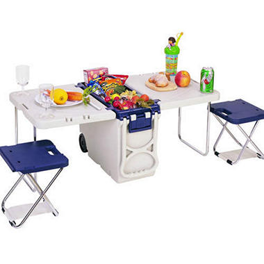 Mini Rolling Picnic Table/Cooler