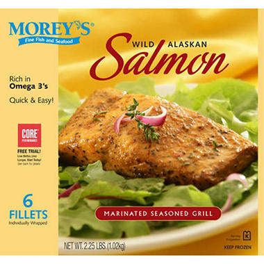 Morey's® Wild Alaskan Salmon Seasoned Grill