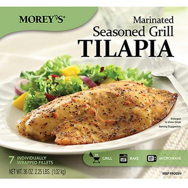 Morey 39 s marinated seasoned grill tilapia 7 ct sam 39 s club for Morey s fish
