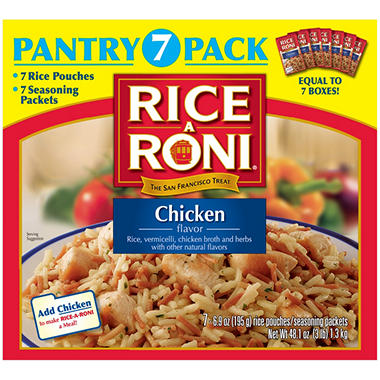 Rice-A-Roni® Chicken Flavor Rice - 7 Pantry Pack