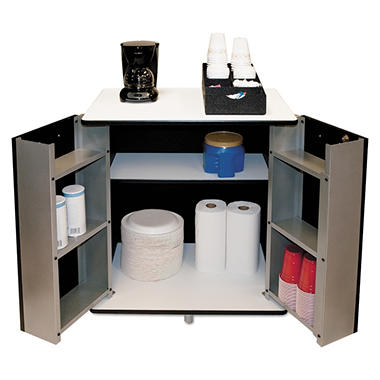 Vertiflex 2-Door Refreshment Stand - Black/White