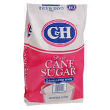 C&H Granulated White Sugar - 25 lb. bag